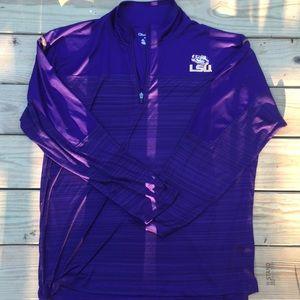 Louisiana State University pullover track jacket